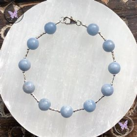 Angelite Silver Bracelet